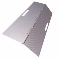 Dørtrinsrampe i aluminium, sammenklappelig