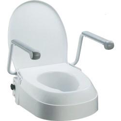 Toiletforhøjer med armlæn, justerbar højde