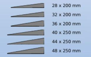 Gummiramper 28-60 mm