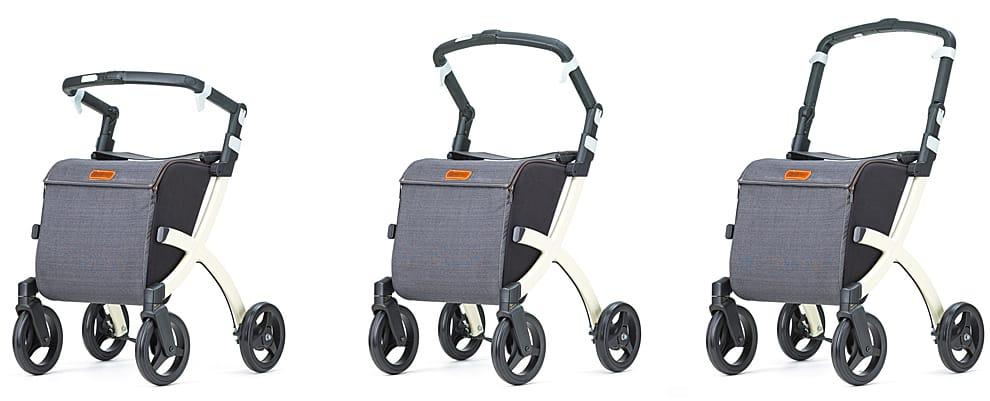 Rollz Flex Shopper-rollator med justerbart håndtag